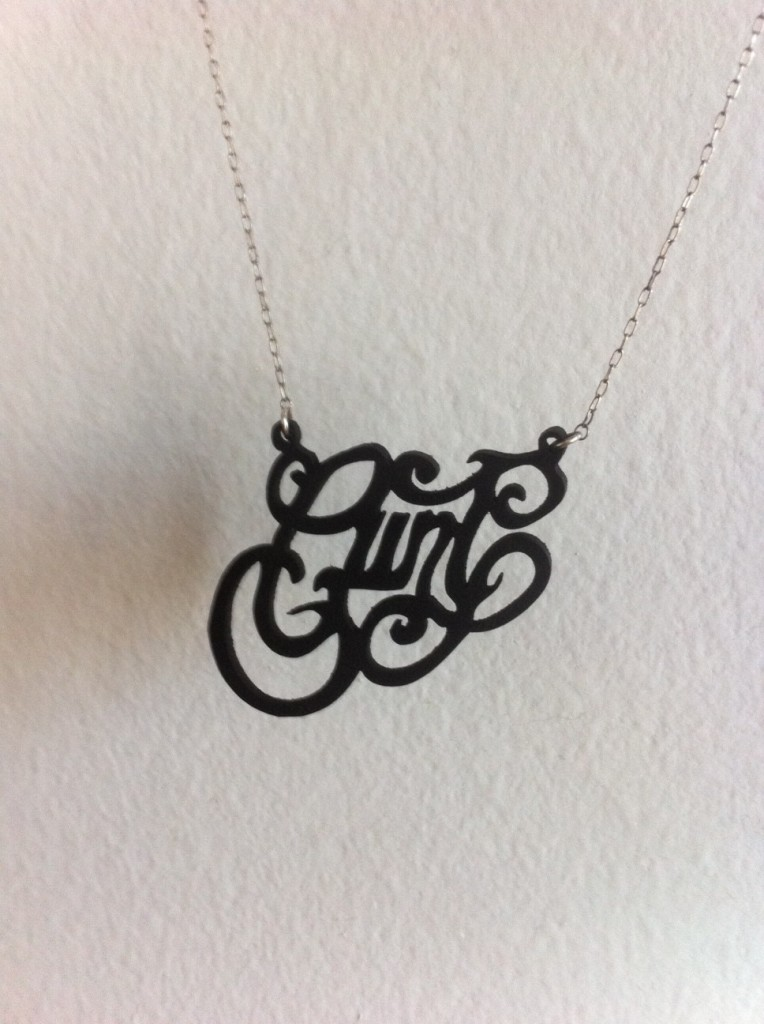 Death by Party- Cunt Necklace by Caja Jewelry
