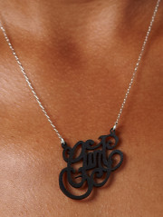 Cunt Necklace In Leather by Caja Jewelry