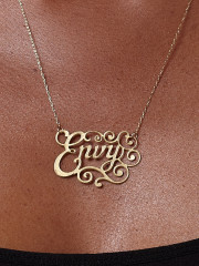 Brass Envy Necklace by Caja Jewelry