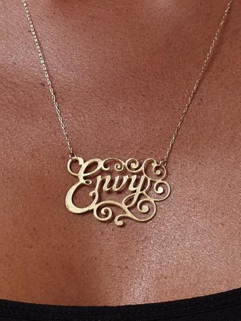 Brass Envy Necklace by Caja Jewelry