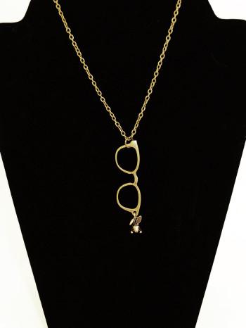 Nerdie Girl Glasses Necklace By Le Vie En