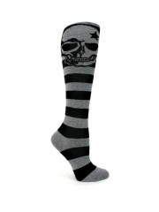 Grey Skull Knee Socks by Sock It To Me