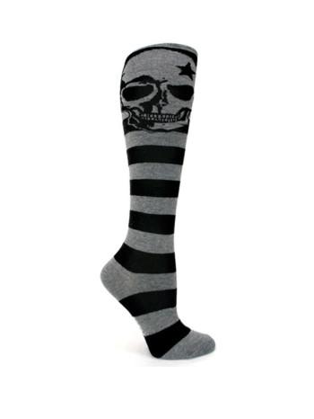 Grey Skull Knee Socks by Sock It To Me