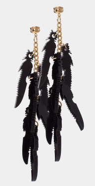 Feather Knife Earrings by I Still Love You New York