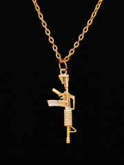Assault Rifle Necklace By Le Vie En