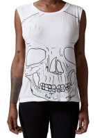 Big Skull Twist Top by Morning Warrior