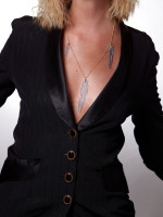Feather Necklace by I Still Love You New York