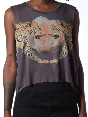 Mirror Image Crop Tank by Morning Warrior
