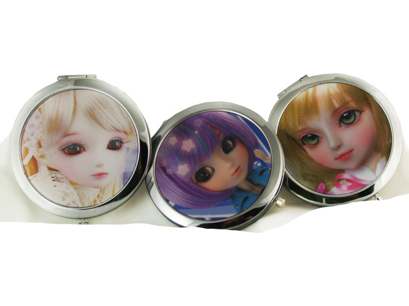 Creepy Doll Compact Case