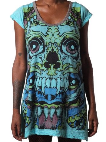 Demon Face Dress by Weed Clothing