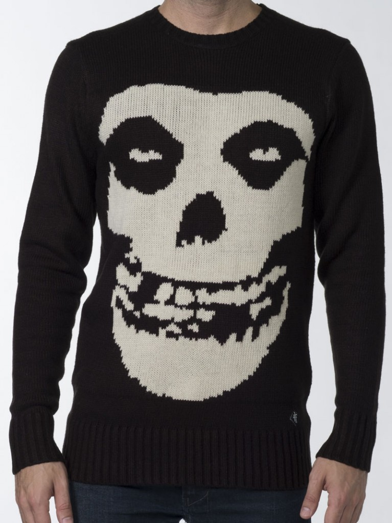 Misfits Crimson Ghost Crew Knit Sweater by Iron Fist