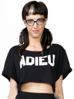 Adieu Crop Sweatshirt by  Morning Warrior