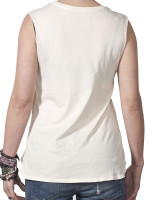White Antique Vader Muscle Tee by Hips and Hair