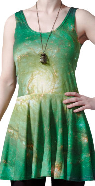 Green Nebula Circle Dress by Mr. Gugu & Miss Go