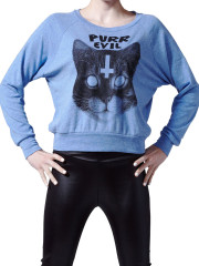 Purr Evil Womens Raglan by Killer Condo