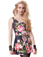 Roses Circle Dress by Mr. Gugu & Miss Go