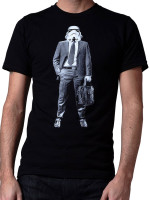 Storm Trooper On The Job Hunt Tee by Crawlspace Studios