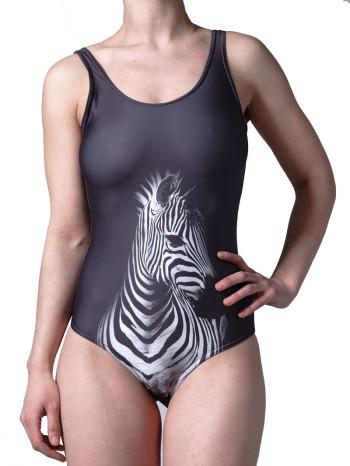Zebra One Piece Swimsuit by Mr. GuGu & Miss Go