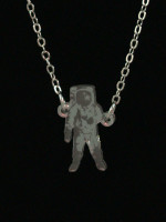 Astronaut Necklace by Vinca Jewelry