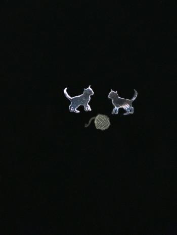 Black Kitten Earrings by Vinca Jewelry