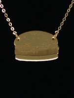 Burger Necklace by Vinca Jewelry