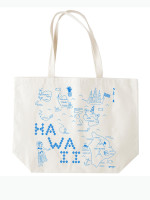 Hawaii Beach Tote by Map Totes