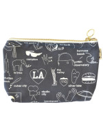 LA Zip Pouch by Maptotes, Los Angeles bag, LA Zip bag, LA makeup bag