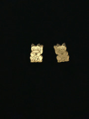Maneki Neko Cat Earrings by Vinca Jewelry