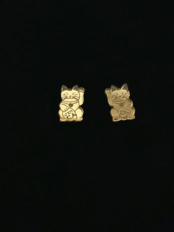 Maneki Neko Cat Earrings by Vinca Jewelry