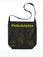 Philadelphia Hobo Crossbody Tote by Map Totes