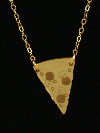 Pizza Necklace by Vinca Jewelry