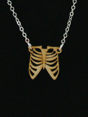 Ribcage Necklace by Vinca Jewelry