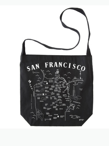 San Francisco Hobo Crossbody by Maptote, san fran tote bag, san fran bag, san fran cross body, san francisco tote bag, san francisco cross body