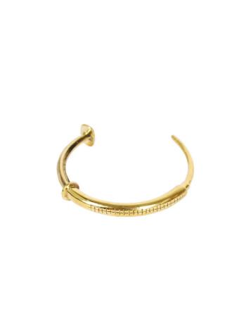 Syringe Bracelet by Monserat De Lucca, brass syringe, drug bracelet,