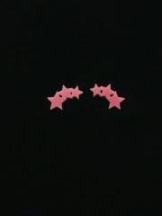 Triple Star Earrings by Vinca Jewelry