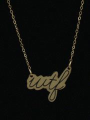 WTF Necklace by Vinca Jewelry
