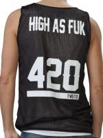 High As Fuk Reversible Mesh Tank