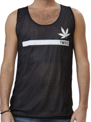 High As Fuk Reversible Mesh Tank