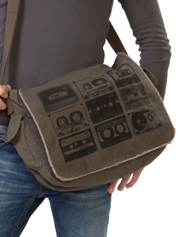 Cassette Tape Messenger Bag