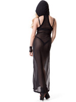 Sheer Hooded Maxi Dress by Widow Clothing
