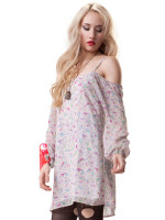 Skye Dress Pink Birdie Print by Blackhearts Brigade