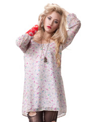 Skye Dress Pink Birdie Print by Blackhearts Brigade