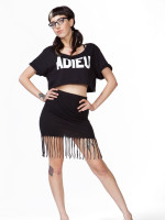 Fitted Fringe Skirt by Bobi