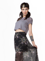Net Shoulder Crop Top by Bobi