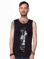 Black Cross Tank by BOY London