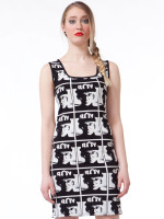 allover warhol tank dress