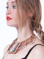 Leather Spiderweb Collar by Caja