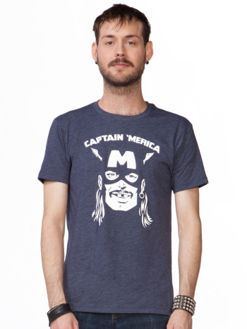 Captain Merica Tee by Headline Tees
