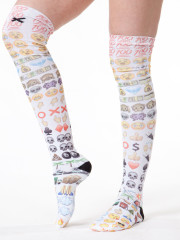 Emoji Knee Sox by Odd Sox