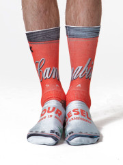 Sour Diesel Soup Can Socks by Odd Sox